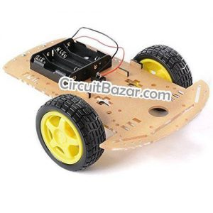DIY Smart Robot Car Chassis Acrylic Board Speed Encoder Battery Box Tires Gearmotor for Raspberry Pi, Arduino