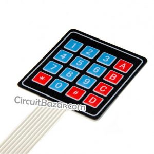 4×4 Matrix Membrane Keypad
