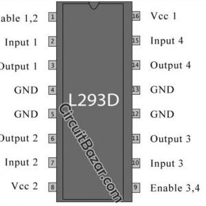 L293D IC Dual H-Bridge Motor Driver IC