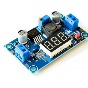LM2596 2A Buck Step-down Power Converter Module DC 4.0~40 to 1.3-37V with LED Voltmeter