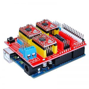 Original Arduino UNO CNC shield v3 A4988 DRV8825 Driver Expansion Board In Pakistan