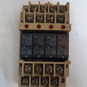 24v Omron Relay 4 Channel with Rail Fitting